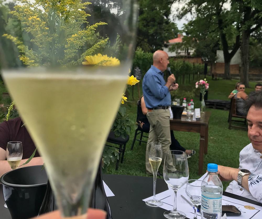 Degustação aconteceu nos jardins da vinícola. (Foto/Andreia Debon)