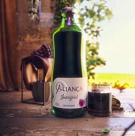 Suco de uva Aliança ganha novas embalagens