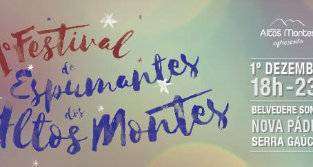1º Festival de Espumantes dos Altos Montes acontece dia 1° de dezembro