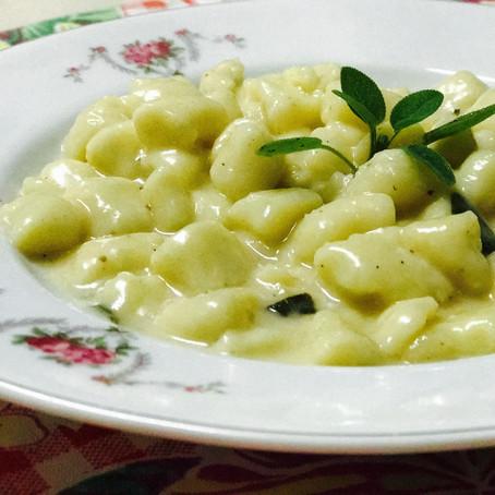 Na Cozinha com o Chef: Gnocchi de batata com molho de manteiga e sálvia