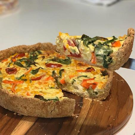 Na Cozinha com o Chef: Quiche de queijo gouda e vegetais gratinados