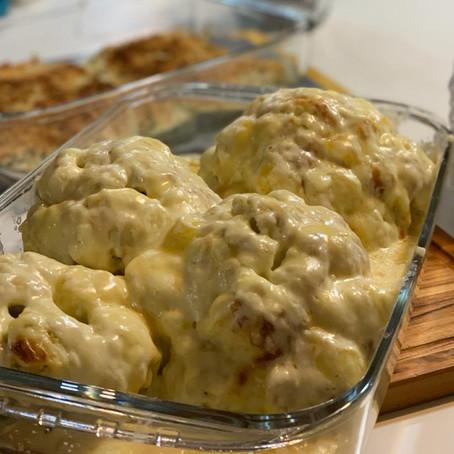 Na Cozinha com o Chef: couve-flor gratinada com queijos suíços