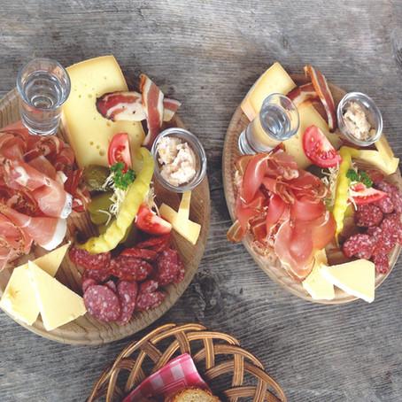 Dolomitas italianas e a comida de montanha