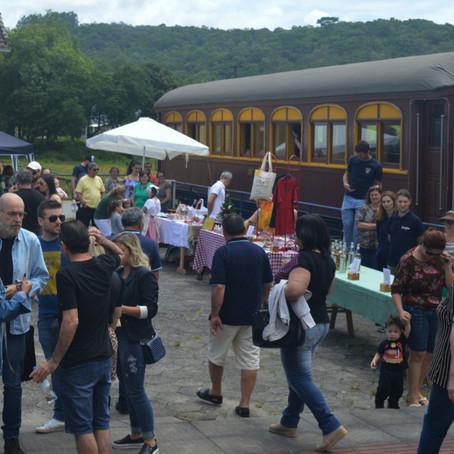 Passeio de trem é novidade na Vindima Goethe, em Santa Catarina