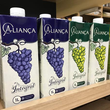 Cooperativa Nova Aliança lança suco de uva integral em embalagem tetra pak