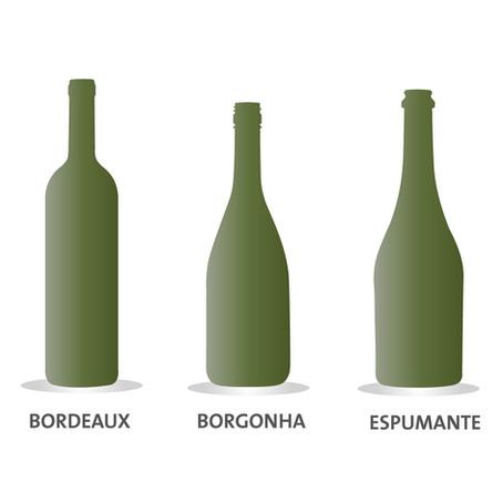 Você sabia que cada tipo de vinho exige uma garrafa própria?