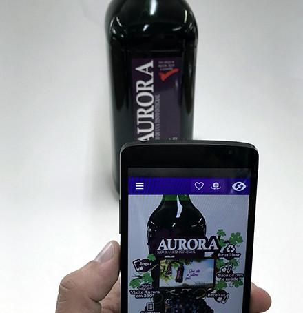 Vinícola Aurora lança rótulos com Realidade Aumentada para os sucos Aurora