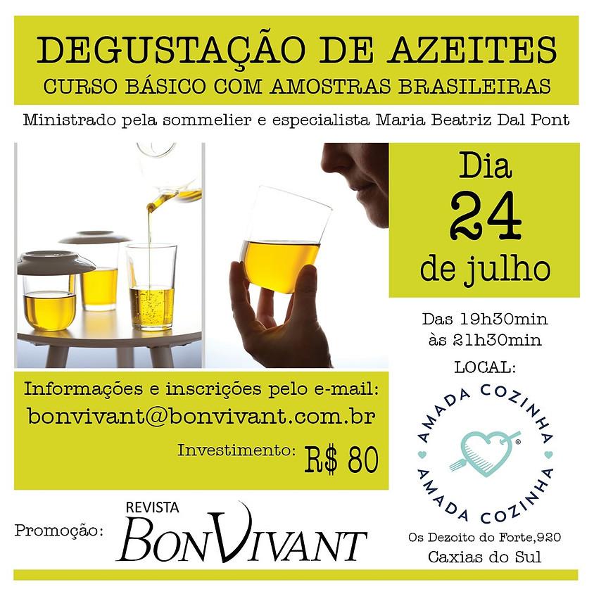 Degustação de Azeites - Curso básico com amostras brasileiras
