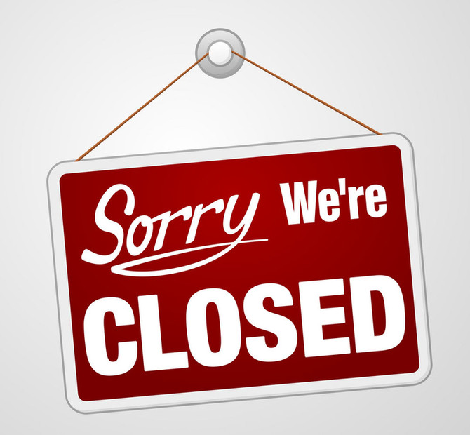Tea Room Closed Monday 9th December