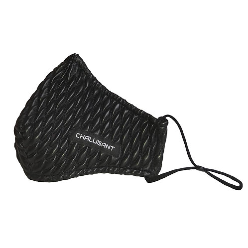 CHALUISANT QUILTED VINYL FACE MASK