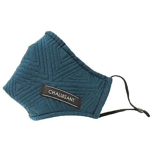CHALUISANT QUILTED GEOMETRIC FACE MASK