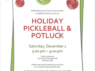 RAPA & Tennis Connection Holiday Pickleball & Potluck