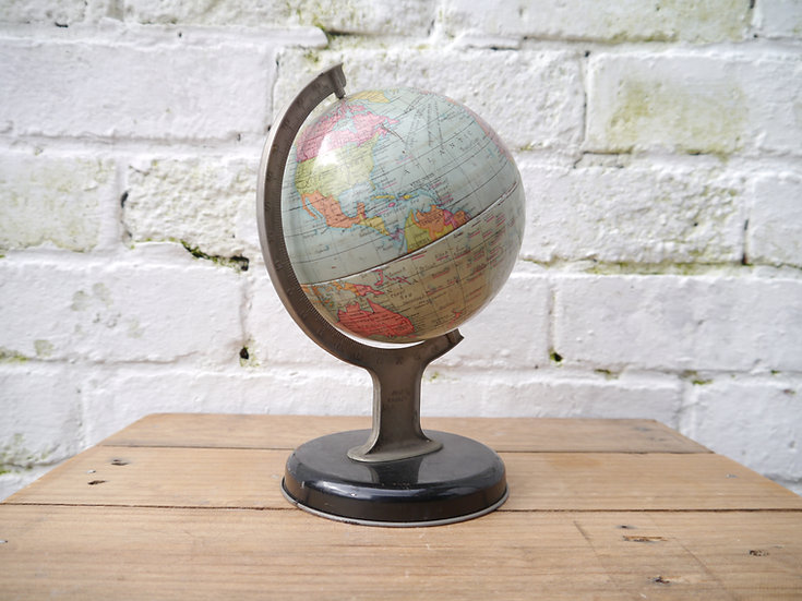 Vintage No. 10174 Chad Valley Tin Globe