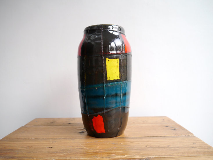 Rare Scheurich Patchwork Vase