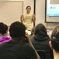 Coach Lauren Steinbrecher sharing about