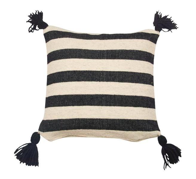 Ancho Stripe Pillow -- Black
