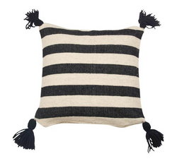 Ancho Stripe Pillow -- Black