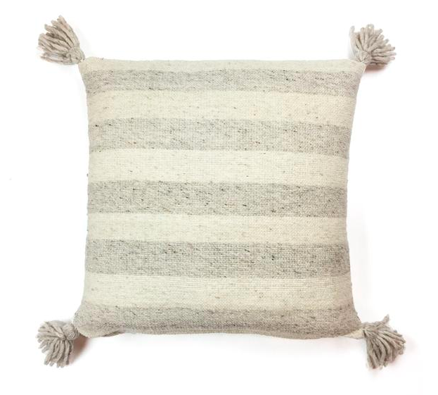 Ancho Stripe Pillow -- Grey