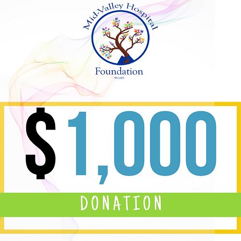 Large Sponsor Donation