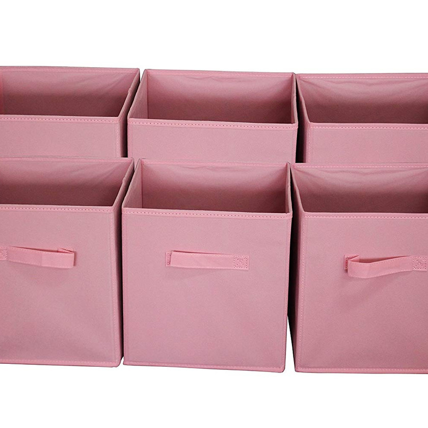Foldable Cloth Storage Cube Basket Bins Organizer Containers Drawers, 6 Pack