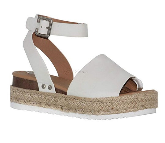 Shoes Women's Ankle Strap Flat Espadrilles - Cute Soda Summer Platforms Sandals