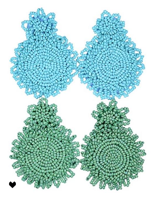ADD TO FAVORITES 2 Pairs Statement Dangle Earrings for Women - Bohemian Beaded Round Drop Earrings Long