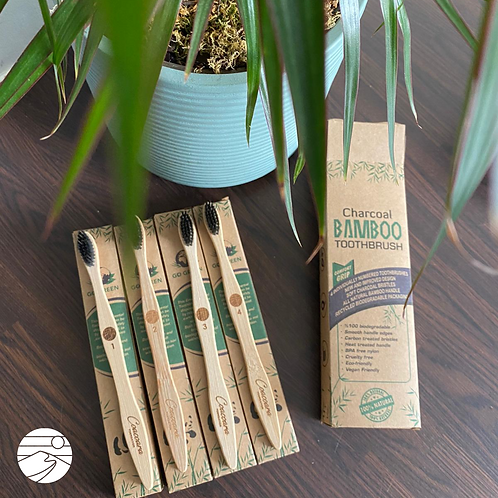 4 Pack of Bamboo Biodegradable Toothbrushes