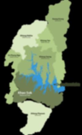 map khao sok