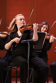 Meri Englund as the Principal Concertmaster of Tapiola Sinfonietta