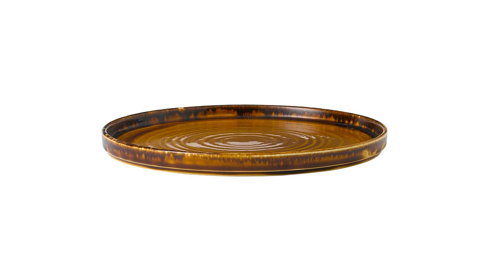 "Harvest Brown Walled Plate HVBRWP261 26cm 101⁄4"" Ctn Qty 6"