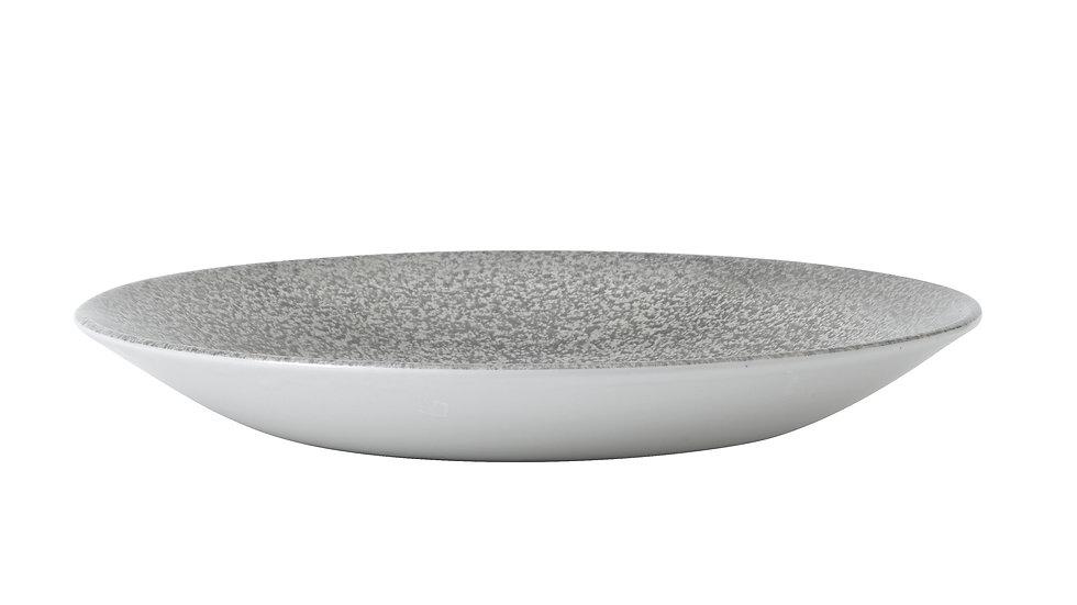 "Evo Origins Natural Grey Deep Coupe Plate EOGYPD251 25.5cm 10"" H 3.5cm Ctn Qty"