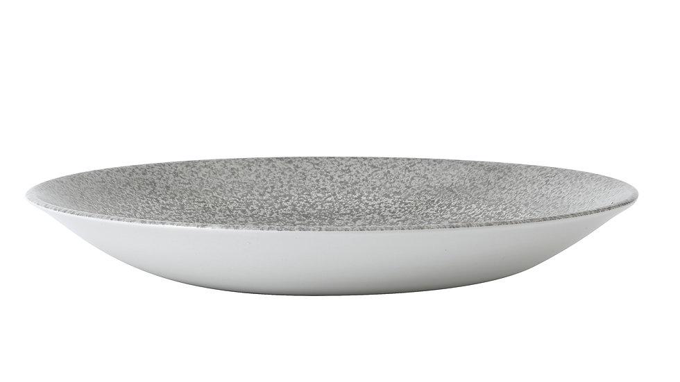 "Evo Origins Natural Grey Deep Coupe Plate EOGYPD271 28.1cm 11"" H 3.7cm Ctn Qty"