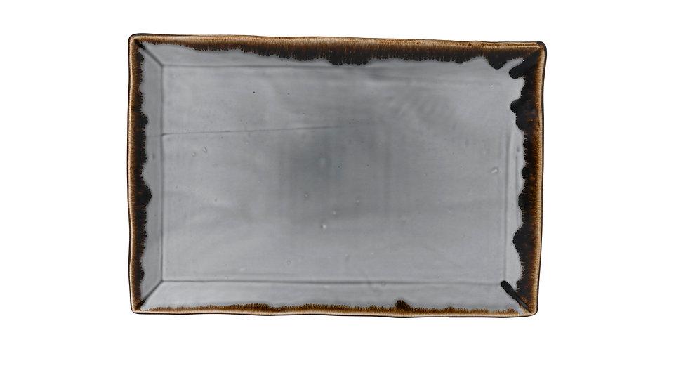"Harvest Grey Rectangular Tray HVGYDR341 34.5cm x 23.3cm 131⁄2"" x 91⁄8"" Ctn Qty 6"