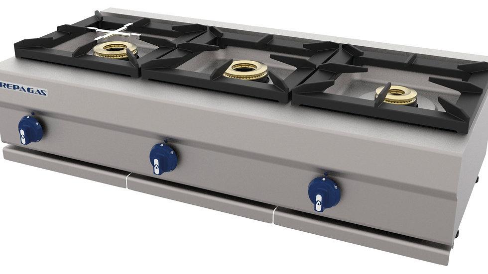 Cocina industrial 3 quemadores Repagas CG-530/M