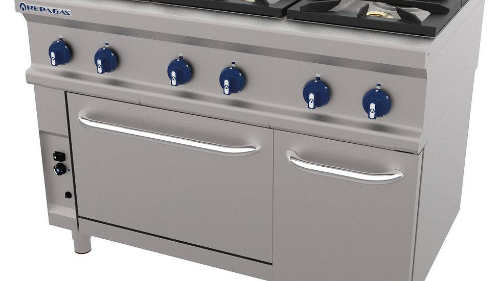 Cocina A Gas Con Horno Serie 750 CG-761 LC Repagas