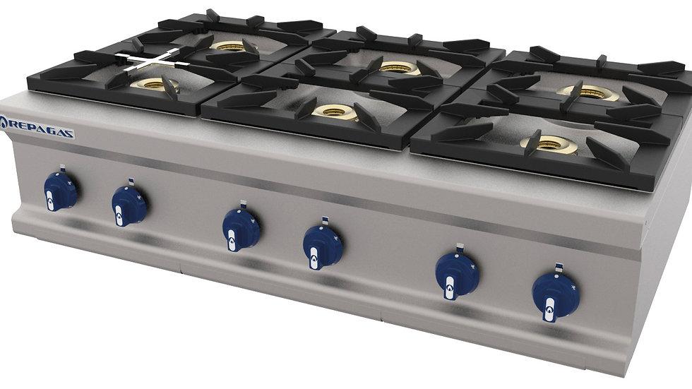 COCINA SOBREMESA A GAS 6 FUEGOS REPAGAS CG-760/M LC