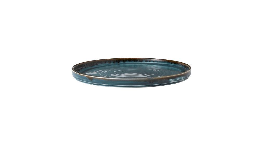 """Harvest Blue Walled Plate HVBLWP211 21cm 81⁄4"""" Ctn Qty 6"""