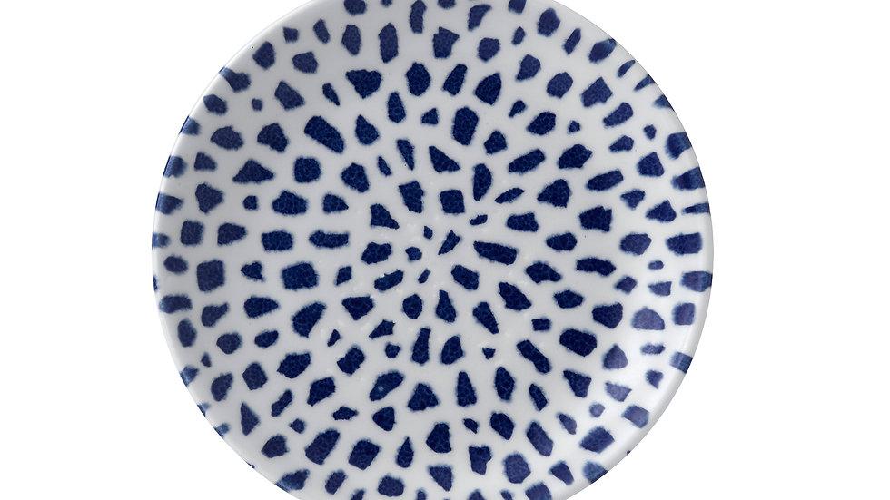 """Terrazzo Blue Coupe Plate TZBLEVP81 21.7cm 82⁄3"""" Ctn Qty 12"""
