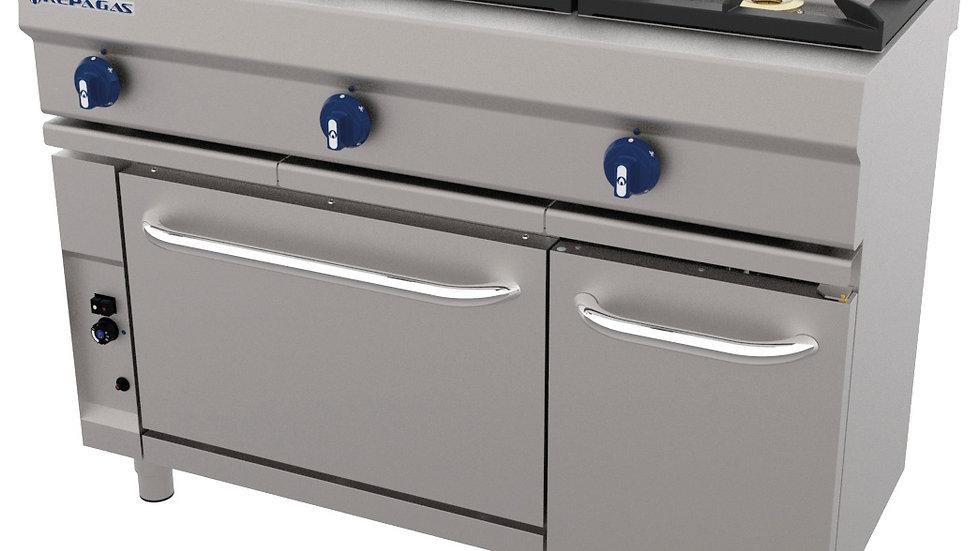 Cocina Industrial CG-531 Repagas A GAS 3 FUEGOS FONDO 550 REPAGAS