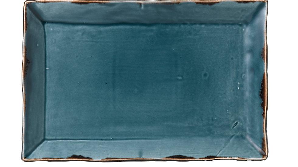 "Harvest Blue Rectangular Tray HVBLDR281 28.7cm x 19cm 111⁄4""x 73⁄8"" Ctn Qty 6"