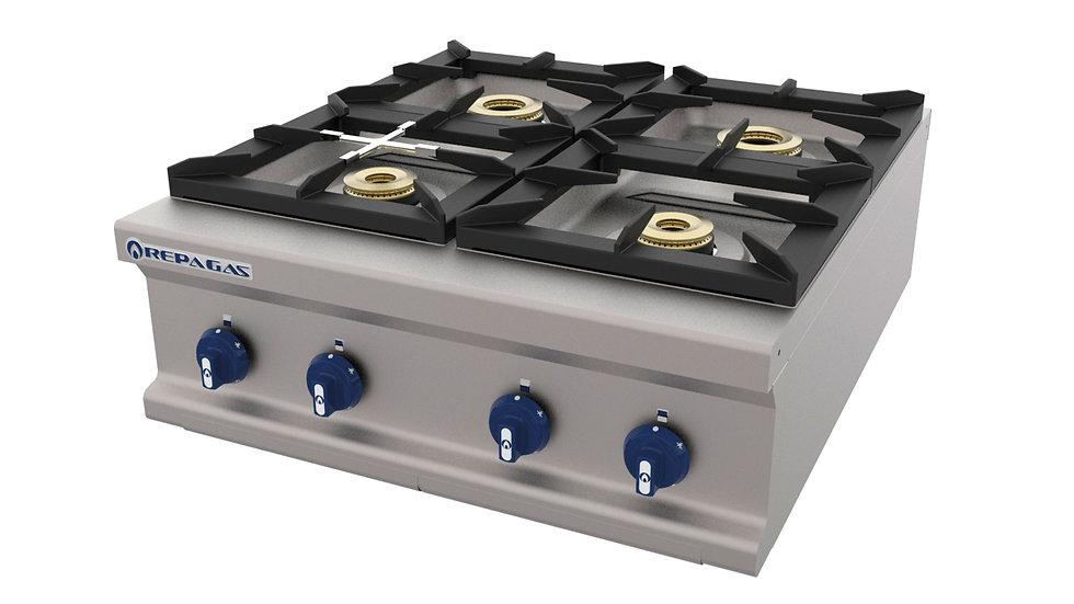 Cocina a gas 4 fuegos Repagas Compact Line CG-940/M LC