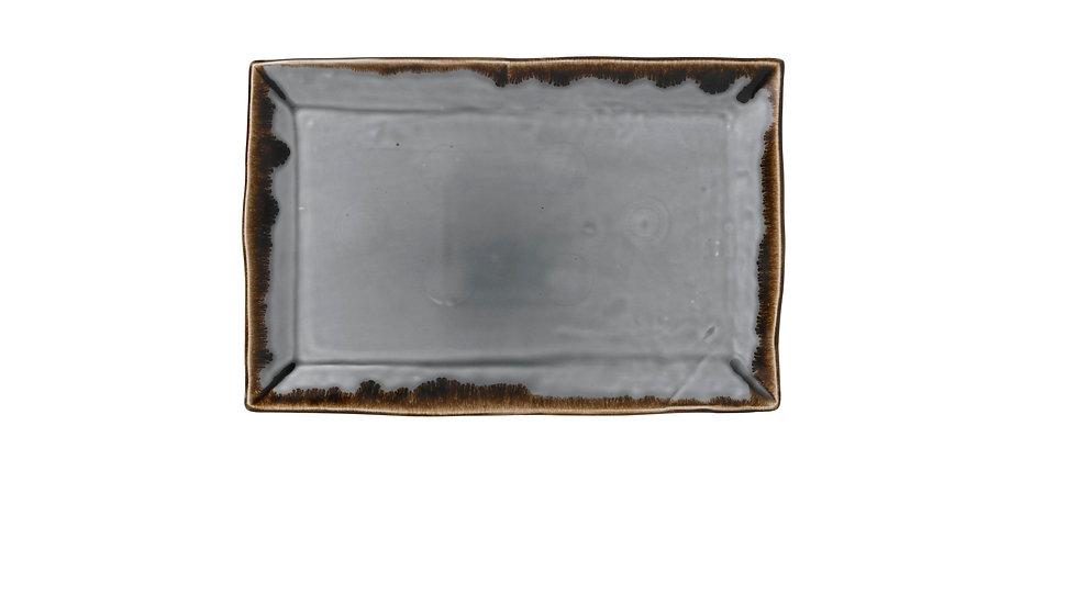 "Harvest Grey Rectangular Tray HVGYDR281 28.7cm x 19cm 111⁄4"" x 73⁄8"" Ctn Qty 6"