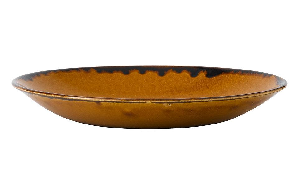 """Harvest Brown Deep Coupe Plate HVBRPD271 28.1cm 11"""" H 3.7cm Ctn Qty 12"""