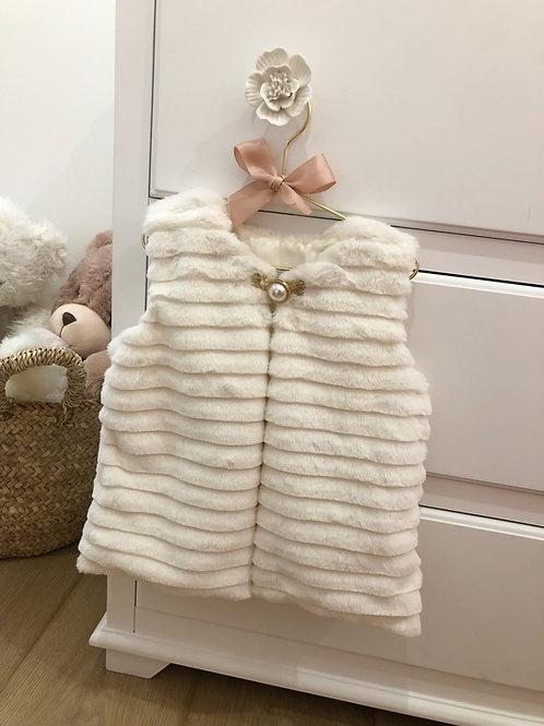 Ivory Furry Gilet