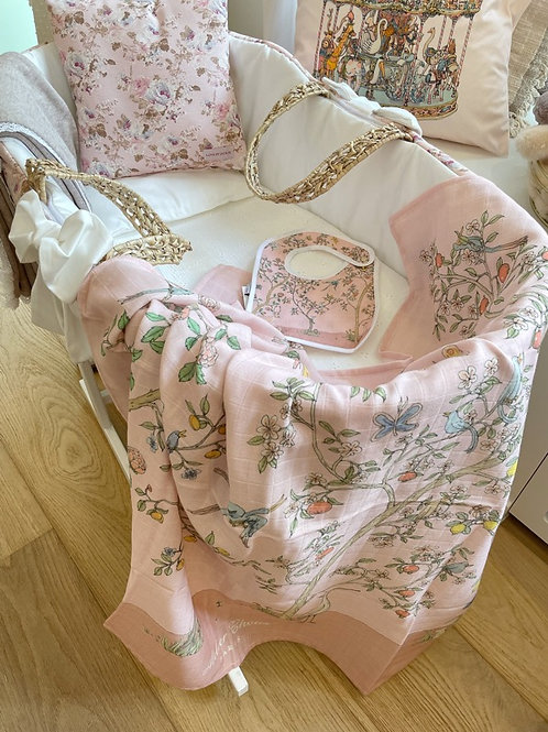 Swaddle In Bloom Pink