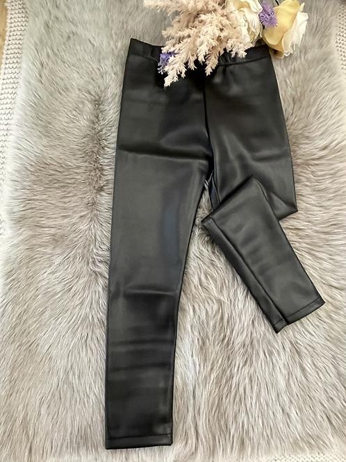 Leggings Leather Nero