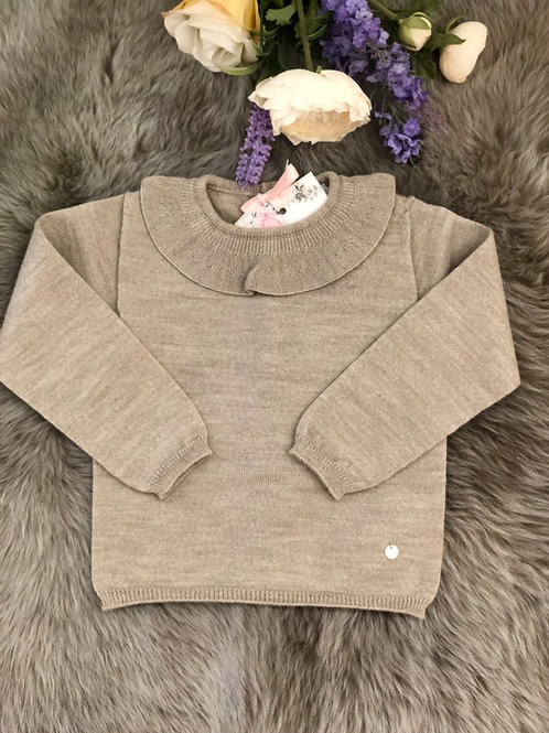 Sweater knitted Beige