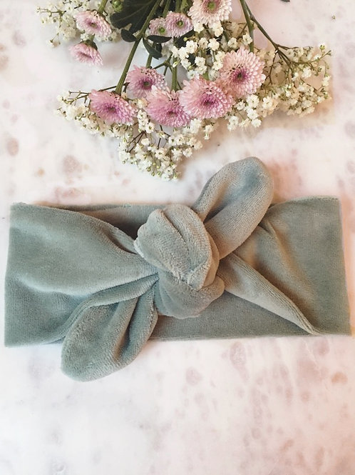 Knotted Headband Velvet Mint