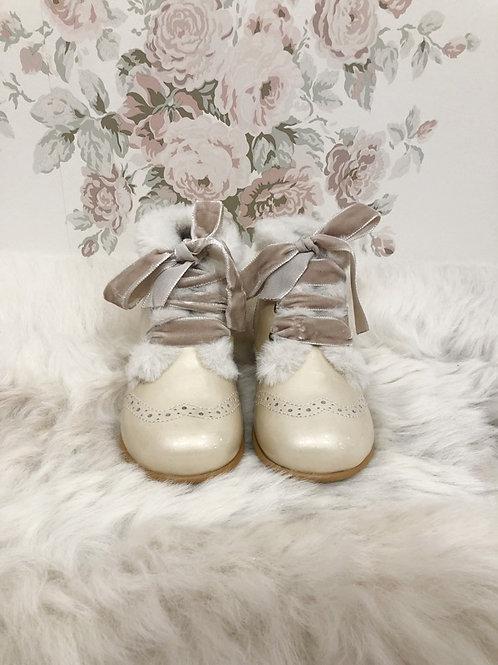 Boots Agnes Ivory Fur