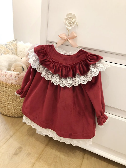 Dress Velvet Burgundy